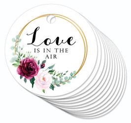 12 ANHÄNGER • Love is in the Air • Boho Rosen Ringe rot rosa