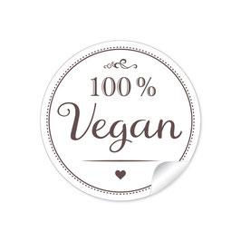 """100% Vegan"" - weiß"