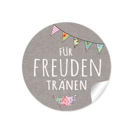 """""""Für Freudentränen"""" - Wimpelkette - sand"""