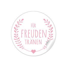 """""""Für Freudentränen"""" - Kranz- rosa"""