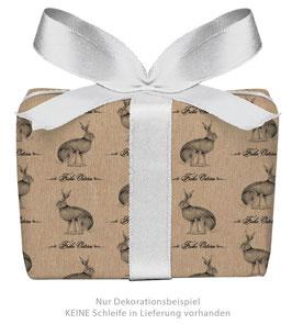 3 Bögen Geschenkpapier groß - OSTERHASE FROHE OSTERN KRAFTPAPIER LOOK gedruckt auf PEFC™ zertifiziertem Papier