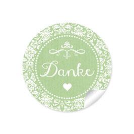 """Danke"" - Ornamente Vintage - grün"