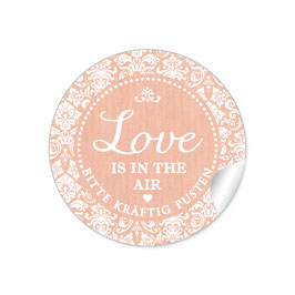 """Love ist in the Air"" - Shabby Chic - apricot"