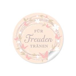 """""""Für Freudentränen"""" - Schmetterlinge - creme / rosa"""