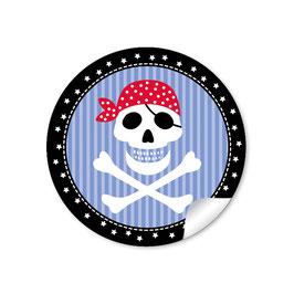 Pirat - schwarz blau rot