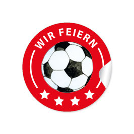 """Wir feiern"" - Fußball - rot"