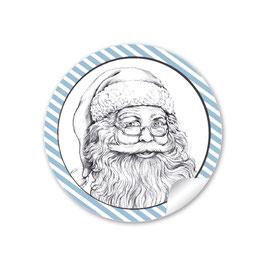 Weihnachtsmann  - blau