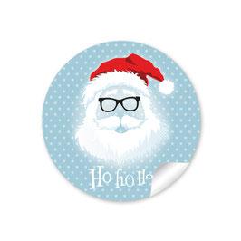 """""""Ho Ho Ho"""" -  Hipster Nikolaus - blaugrau"""