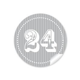 Adventskalenderzahlen - grau