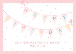 """Happy Birthday"" - Girlande - Bunt"