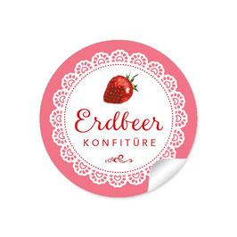 """""""Erdbeere Konfitüre""""- Spitze - rosa"""