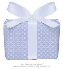 3 Bögen Geschenkpapier groß - Wabenmuster Vintage - lila blassblau