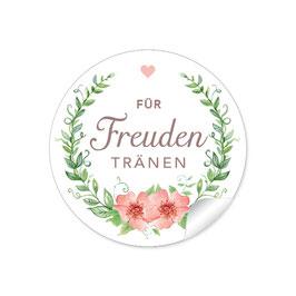 """Für Freudentränen"" - Rosenkranz - apricot / grün"