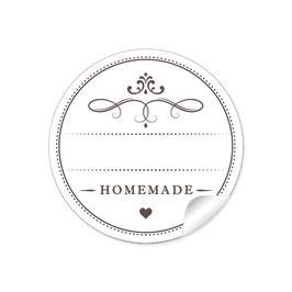 """""""Homemade""""- weiß - mit Freitextfeld"""