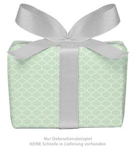 3 Bögen Geschenkpapier groß - Wabenmuster Vintage - Pastell grün