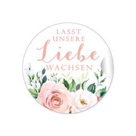 """""""Lasst unsere Liebe wachsen"""" - Rosen Blüten Blätter Apricot weiß grün"""
