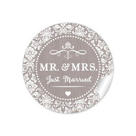 """MR. and MRS.  - Just married"" - Ornamente - sand"