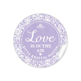 """Love ist in the Air"" - Shabby Chic - lila"