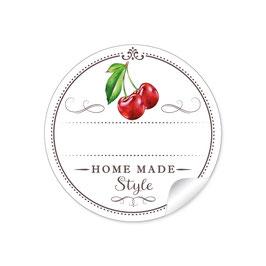 """""""Home Made Style""""- Kirsche - weiß"""