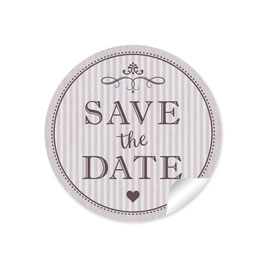 """Save the Date"" - Vintage Ornamente - taupe"