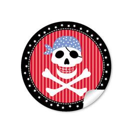 Pirat - rot schwarz blau
