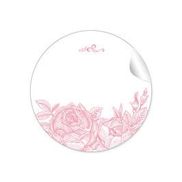 Rosen - rosa - mit Freitextfeld