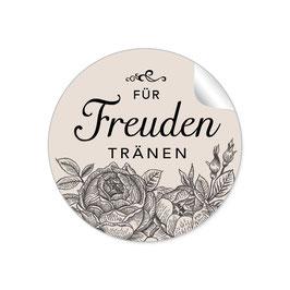 """""""Für Freudentränen"""" - Rosen - beige / schwarz"""