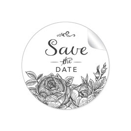 """Save the Date"" - Rosen - schwarz"