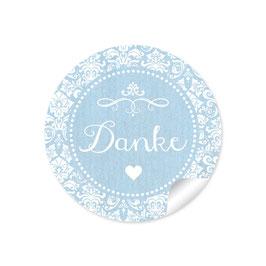 """""""Danke"""" - Vintage Ornamente - hellblau"""