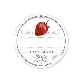 """Home Made Style""- Erdbeere - weiß"