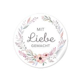 MIT LIEBE GEMACHT - Kranz Blüten pastell weiß