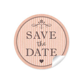 """Save the Date"" - Vintage Ornamente - apricot"