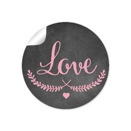 """""""LOVE"""" - Kreidetafel - schwarz rosa"""