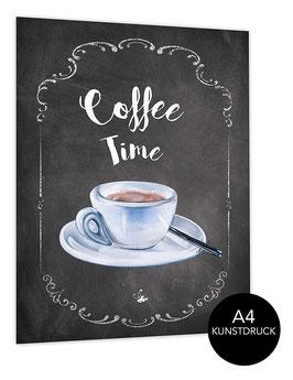 Din A4 Kunstdruck ungerahmt COFFEE TIME