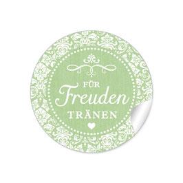 """Für Freudentränen"" - Vintage Ornamente - grün"