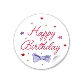 """""""Happy Birthday"""" -  Schleife - rot  lila"""