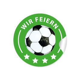 """Wir feiern"" - Fußball - grün"