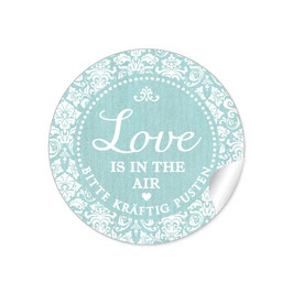 """Love ist in the Air"" - Shabby Chic - mint"