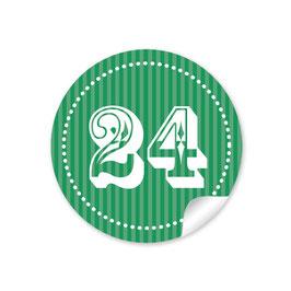 Adventskalenderzahlen - dunkelgrün