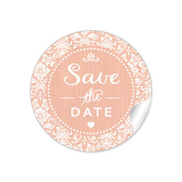 """Save the Date"" - Vintage  Retro Ornamente - apricot"