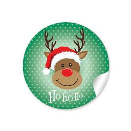 """""""Ho Ho Ho"""" - Rudolph - grün"""
