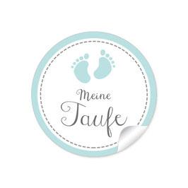 """""""Meine Taufe"""" - Babyfüßchen - türkis"""