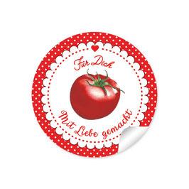 """""""Für Dich - Mit Liebe gemacht""""- Tomate - rot"""