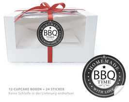 "BIO BOX SET - ""Homemade with Love - BBQ Time"" schwarz"