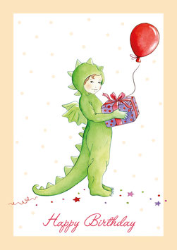 """Happy Birthday"" - Kostüm Drache - Creme"