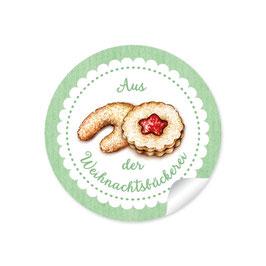 """""""Aus der Weihnachtsbäckerei""""- Gebäck - grün"""