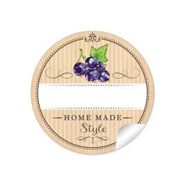 """""""Home Made Style""""- Johannisbeere schwarz - Natur"""