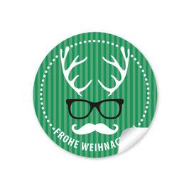 """""""Frohe Weihnachten""""  - Hipster Hirsch - grün"""