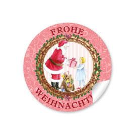 """""""Frohe Weihnachten"""" -  Heiligabend - rot"""