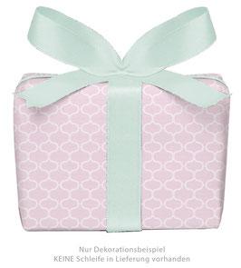 3 Bögen Geschenkpapier groß - Wabenmuster Vintage - rosa